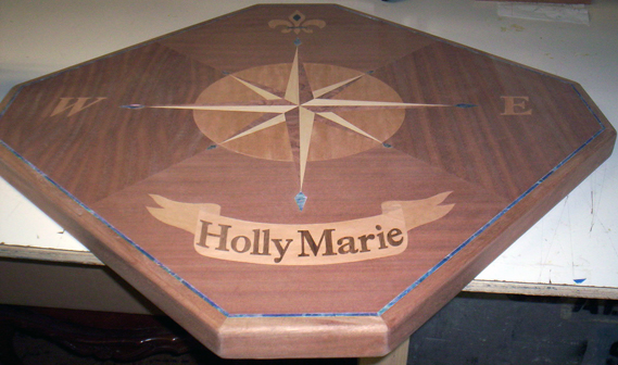 boat table compass rose example holly marie