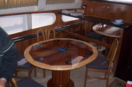edge nautical art rosewood boat table