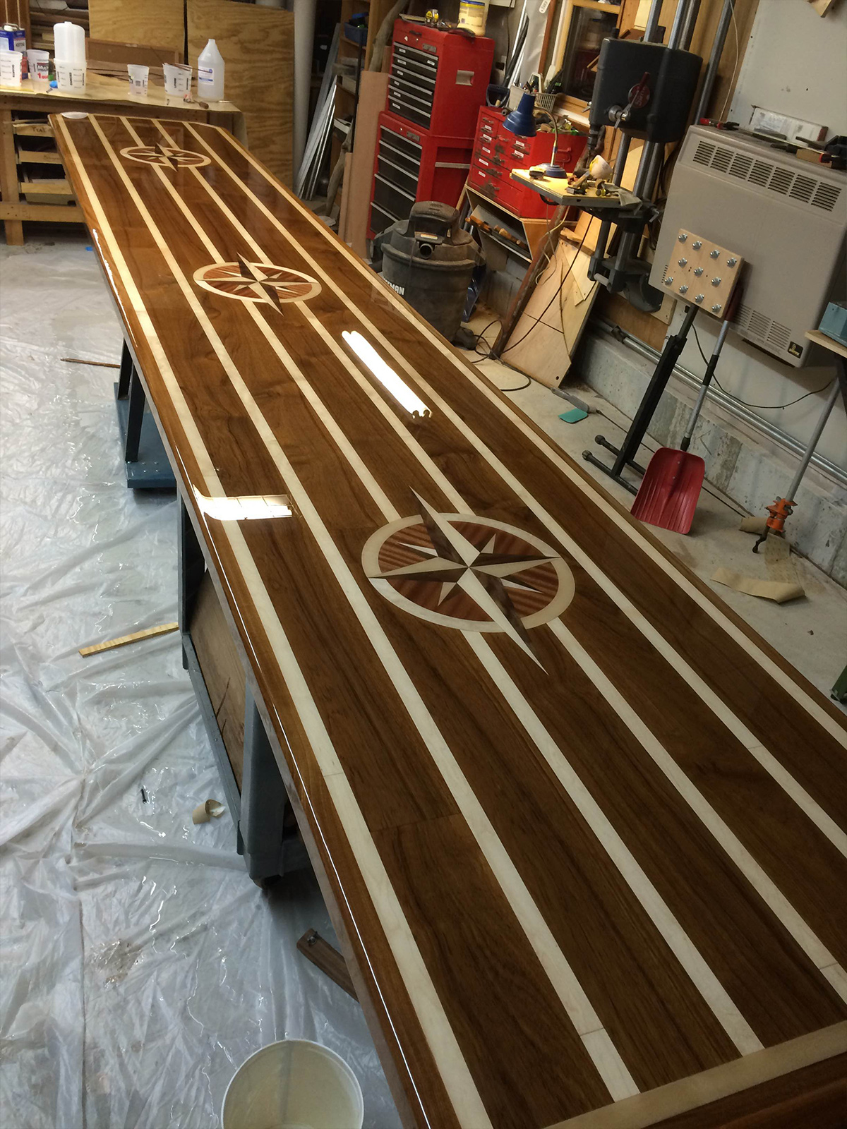 Custom Boat Tables Teak And Holly Counter Tops