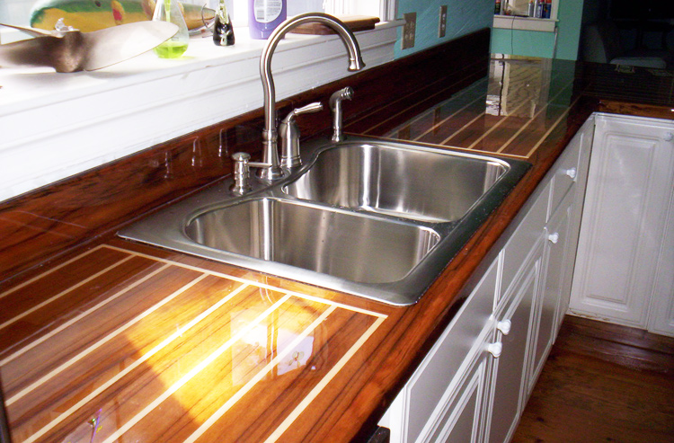 houzz countertop teak u kitchen new with countertops raised panel cabinets in shaped traditional york idea wood