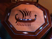 nautical table bamboo viking nautical art