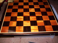 teak holly chess board