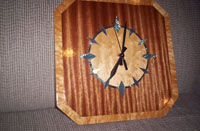 white maple clock table