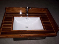 ribbon sapeli custom kitchen sink