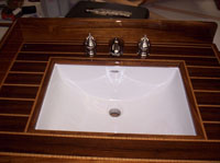 teak holly custom sink