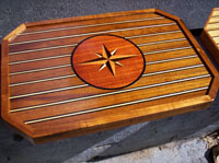 yacht boat custom tables art abalone inlay