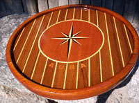 boat tables art compass rose