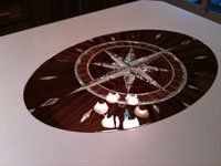 yacht tables compass rose